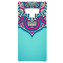Blue Mandala Samsung Note 9 Black Uv Print Case