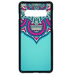 Blue Mandala Samsung Galaxy S10 Seamless Case(black)