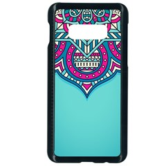Blue Mandala Samsung Galaxy S10e Seamless Case (black)