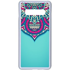 Blue Mandala Samsung Galaxy S10 Plus Seamless Case(white)