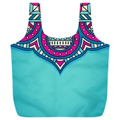 Blue Mandala Full Print Recycle Bag (xxl)