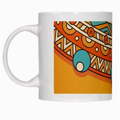 Sunshine Mandala White Mugs