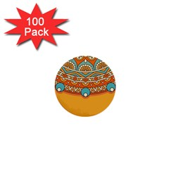 Sunshine Mandala 1  Mini Buttons (100 Pack)