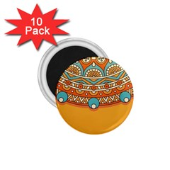 Sunshine Mandala 1 75  Magnets (10 Pack)