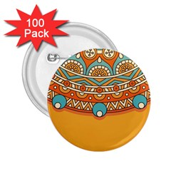 Sunshine Mandala 2 25  Buttons (100 Pack)