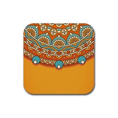 Sunshine Mandala Rubber Square Coaster (4 Pack)