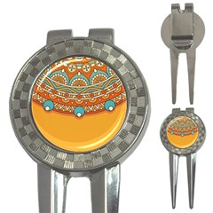 Sunshine Mandala 3-in-1 Golf Divots