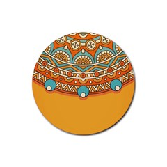 Sunshine Mandala Rubber Round Coaster (4 Pack)