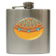 Sunshine Mandala Hip Flask (6 Oz)