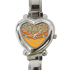 Sunshine Mandala Heart Italian Charm Watch