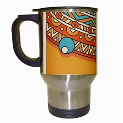 Sunshine Mandala Travel Mugs (white)