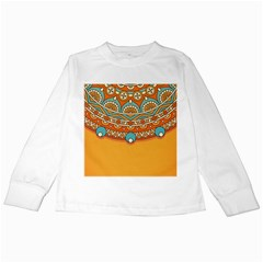 Sunshine Mandala Kids Long Sleeve T-shirts