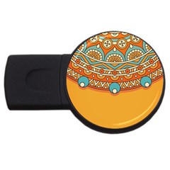 Sunshine Mandala Usb Flash Drive Round (4 Gb)