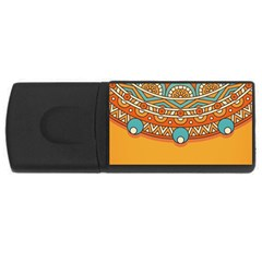 Sunshine Mandala Rectangular Usb Flash Drive