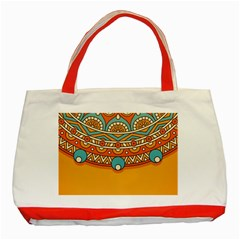 Sunshine Mandala Classic Tote Bag (red)