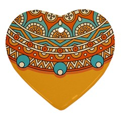 Sunshine Mandala Heart Ornament (two Sides)