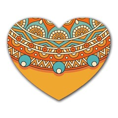 Sunshine Mandala Heart Mousepads