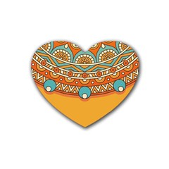 Sunshine Mandala Heart Coaster (4 Pack)