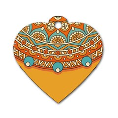 Sunshine Mandala Dog Tag Heart (two Sides)