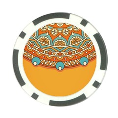 Sunshine Mandala Poker Chip Card Guard