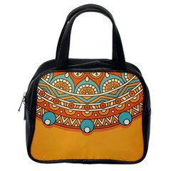 Sunshine Mandala Classic Handbag (one Side)