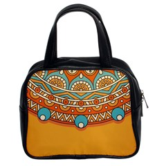 Sunshine Mandala Classic Handbag (two Sides)