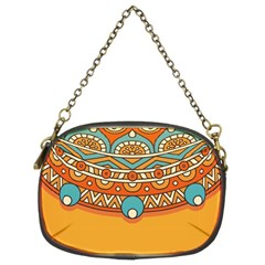 Sunshine Mandala Chain Purse (two Sides)