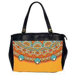 Sunshine Mandala Oversize Office Handbag (2 Sides)