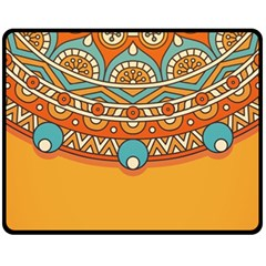 Sunshine Mandala Fleece Blanket (medium)