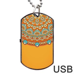 Sunshine Mandala Dog Tag Usb Flash (two Sides)