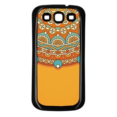 Sunshine Mandala Samsung Galaxy S3 Back Case (black)
