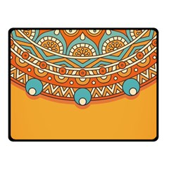 Sunshine Mandala Double Sided Fleece Blanket (small)