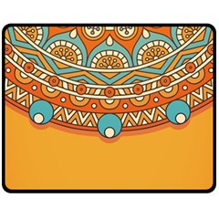 Sunshine Mandala Double Sided Fleece Blanket (medium)