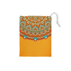 Sunshine Mandala Drawstring Pouch (small)