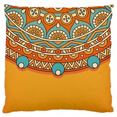 Sunshine Mandala Large Flano Cushion Case (two Sides)