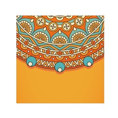 Sunshine Mandala Small Satin Scarf (square)