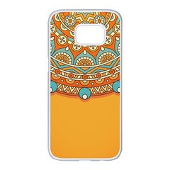 Sunshine Mandala Samsung Galaxy S7 Edge White Seamless Case
