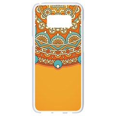 Sunshine Mandala Samsung Galaxy S8 White Seamless Case