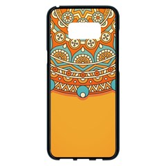 Sunshine Mandala Samsung Galaxy S8 Plus Black Seamless Case