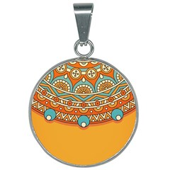 Sunshine Mandala 25mm Round Necklace