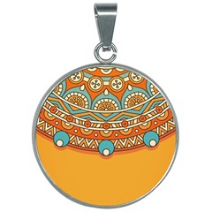 Sunshine Mandala 30mm Round Necklace