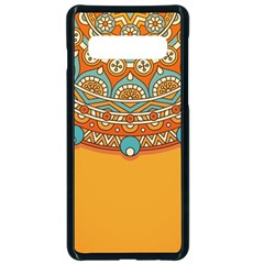 Sunshine Mandala Samsung Galaxy S10 Seamless Case(black)