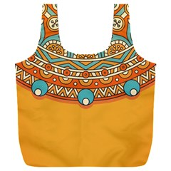 Sunshine Mandala Full Print Recycle Bag (xxxl)