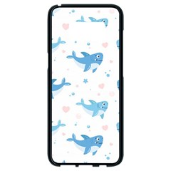 Seamless Pattern With Cute Sharks Hearts Samsung Galaxy S8 Black Seamless Case