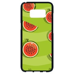 Seamless Background With Watermelon Slices Samsung Galaxy S8 Black Seamless Case