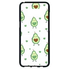 Cute Seamless Pattern With Avocado Lovers Samsung Galaxy S8 Black Seamless Case