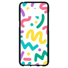 Abstract Pop Art Seamless Pattern Cute Background Memphis Style Samsung Galaxy S8 Black Seamless Case