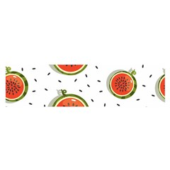 Seamless-background-pattern-with-watermelon-slices Satin Scarf (oblong)