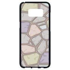 Cartoon Colored Stone Seamless Background Texture Pattern Samsung Galaxy S8 Black Seamless Case
