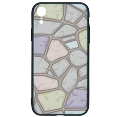 Cartoon Colored Stone Seamless Background Texture Pattern Iphone Xr Soft Bumper Uv Case